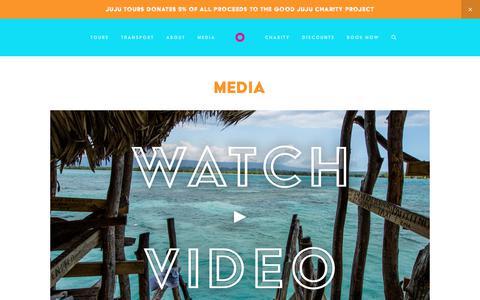 Screenshot of Press Page jujutours.com - Media — JuJu Tours - captured Sept. 20, 2018