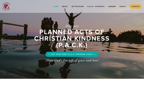 Screenshot of Home Page acts18.org - Acts 1:8 Ministry® - captured Sept. 12, 2015