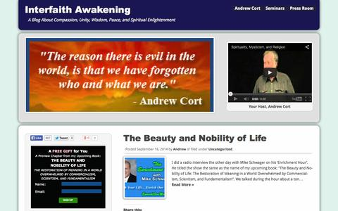 Screenshot of Home Page spirituality-and-religion.com - Spirituality and Religion - captured Sept. 19, 2014