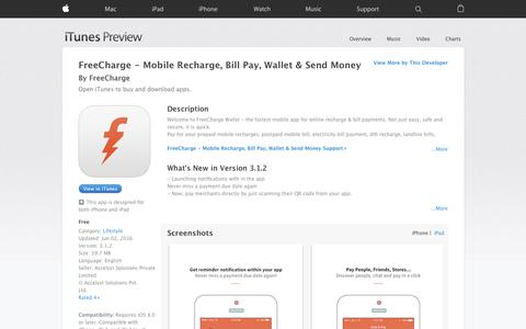 FreeCharge - Mobile Recharge, Bill Pay, Wallet & Send Money on the App Store
