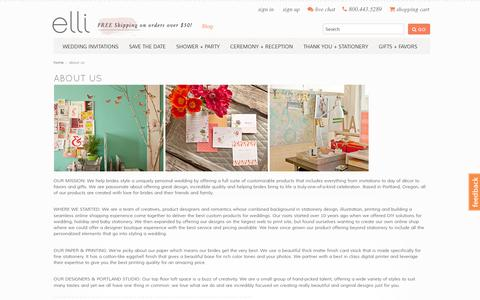 Screenshot of About Page elli.com - About Us - captured July 19, 2014