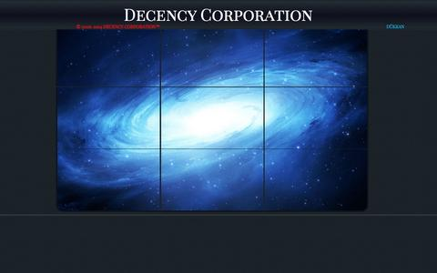 Screenshot of Home Page decencycorporation.com - DECENCY CORPORATION - captured Oct. 5, 2014