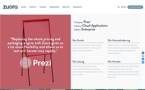 Screenshot of Case Studies Page zuora.com - Prezi Case Study - Zuora - captured Sept. 11, 2017