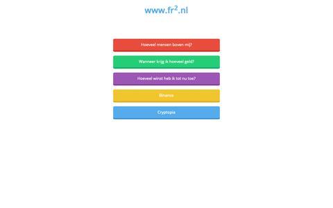 Screenshot of Home Page fr2.nl - fr2.nl - captured Oct. 10, 2018
