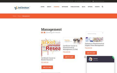 Screenshot of Team Page inclinition.com - Management   InClinition - captured Nov. 6, 2018