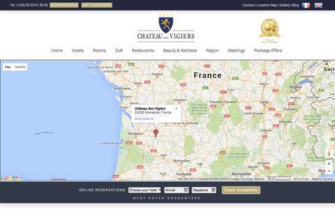 Screenshot of Contact Page vigiers.com - Contact ⋆ Château des Vigiers - captured Jan. 26, 2016