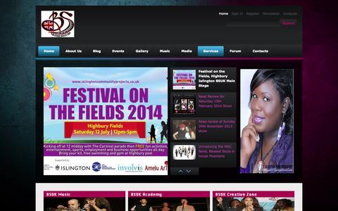 Screenshot of Home Page Services Page blessedsoulsuk.com - Blessed Souls UK   LONDON'S BEST PREMIER LIVE SHOWCASE   #BSUK - captured Sept. 30, 2014