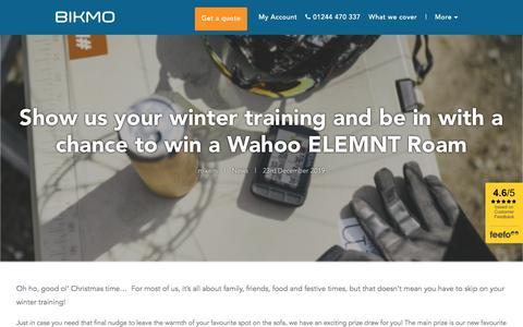 Screenshot of Press Page bikmo.com - Holiday Prize Draw with Bikmo: Win a Wahoo ELEMNT Roam - captured Jan. 31, 2020