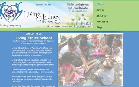 Screenshot of Home Page centerforlivingethics.org - Center for Living Ethics - captured June 16, 2016