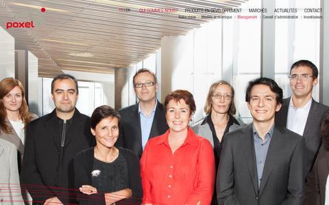 Screenshot of Team Page poxel.com - Management  POXEL - Poxel développe des médicaments innovants et exclusifs pour le traitement des maladies métaboliques, en particulier le diabète de type 2 - captured July 18, 2014