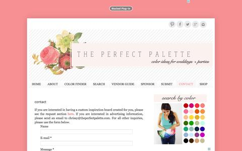 Screenshot of Contact Page theperfectpalette.com - The Perfect Palette: CONTACT - captured Oct. 30, 2014