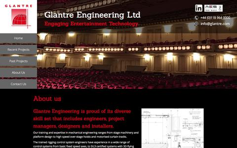 Screenshot of About Page glantre.com - Team - Glantre Engineering LtdGlantre Engineering Ltd - captured Nov. 7, 2016