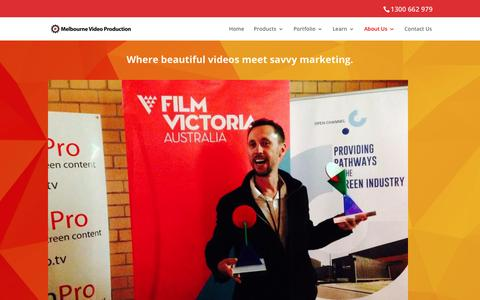Screenshot of About Page melbournevideoproduction.com.au - Professional Video SEO In Melbourne - captured Jan. 16, 2018