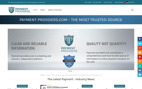 Screenshot of Home Page payment-providers.com - E-Payment Service Provider / online based payment - captured Sept. 27, 2018