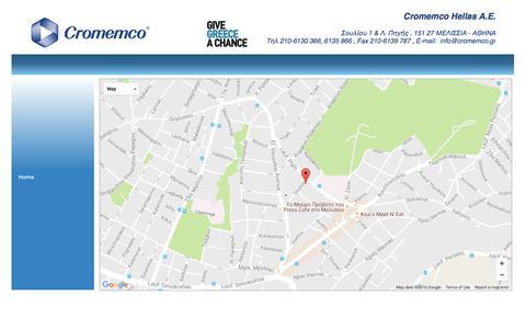 Screenshot of Maps & Directions Page cromemco.gr - Χά�της - captured Nov. 14, 2016