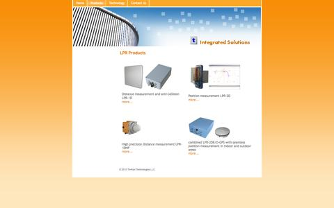 Screenshot of Products Page timkantech.com - Products - TimKan Technologies - Symeo Absolut Positioning - captured Oct. 6, 2014