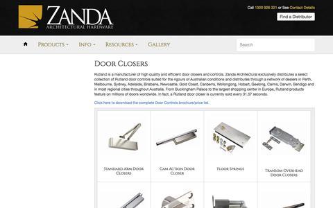 Door Closers – Zanda Architectural Hardware