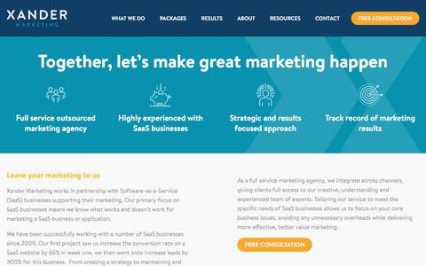 About SaaS Marketing Company | Xander Marketing
