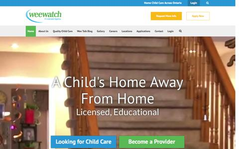 Screenshot of Home Page weewatch.com - Wee Watch - captured Aug. 15, 2015