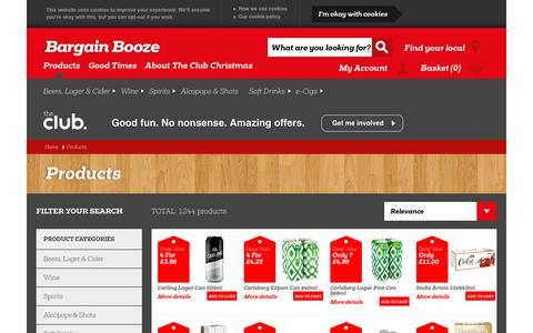 Screenshot of Products Page bargainbooze.co.uk - Offers & Promotions   Bargain Booze - captured Dec. 12, 2018
