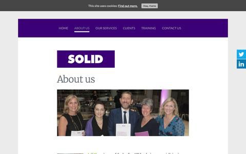 Screenshot of About Page solidmanagement.co.uk - About Us - Solid Management - captured Nov. 8, 2017
