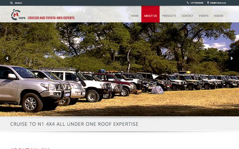 Screenshot of About Page n14x4.co.za - New, Used, Reconditioned Parts for Toyota | Toyota Rebuilds - captured June 18, 2017