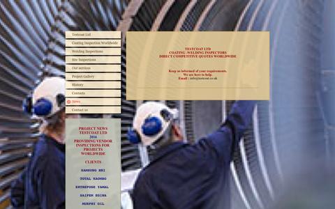 Screenshot of Press Page testcoat.co.uk - Testcoat Ltd NACE ICORR COATING INSPECTORS - captured Feb. 17, 2016