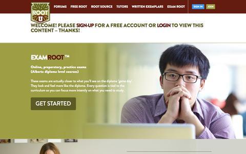 Screenshot of Contact Page rootu.ca - Feedback / Contact Us   Root U - captured Nov. 5, 2014