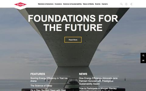 Screenshot of Home Page dow.com - The DOW Chemical Company - Home - captured Nov. 14, 2015