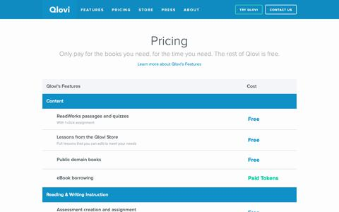 Screenshot of Pricing Page qlovi.com - Pricing | Qlovi - captured Nov. 4, 2018