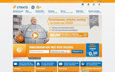 Screenshot of Home Page zetzema.com - Hosting, cloud storage, webshop & server – STRATO - captured Oct. 7, 2014