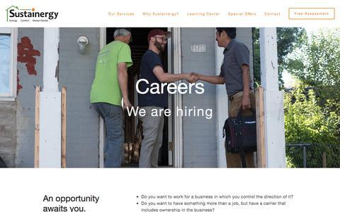 Screenshot of Jobs Page sustainergy.coop - Sustainergy Cooperative - captured Nov. 10, 2017