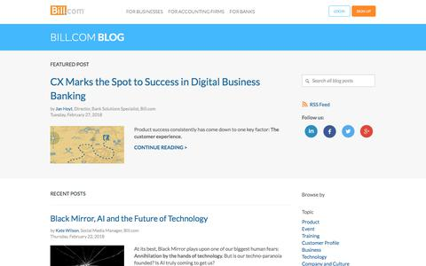 Bill.com Blog - ePayments, AP and AR Automation   Bill.com