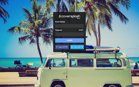 Screenshot of Login Page coversplash.com - Login - captured Sept. 17, 2014
