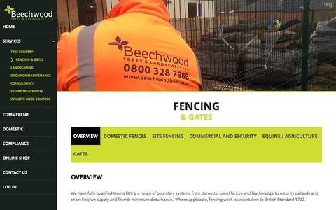 Screenshot of Services Page beechwoodtrees.co.uk - Overview – Beechwood - captured Nov. 22, 2016