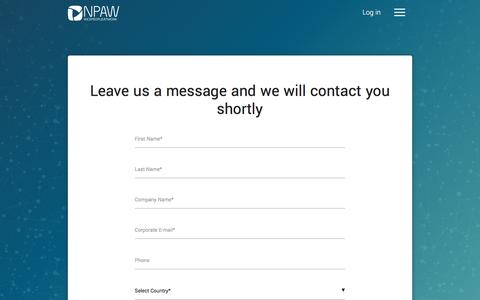 Screenshot of Contact Page nicepeopleatwork.com - Contact Us - Nice People At Work - captured Jan. 21, 2018