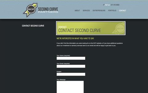 Screenshot of Contact Page secondcurvepartners.com - Second Curve Partners |   Contact Second Curve - captured Oct. 27, 2014
