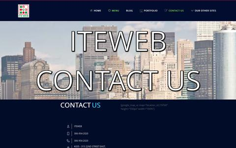 Screenshot of Contact Page iteweb.com - Contact US | ITE WEB – Web and Graphic Design – Digital Printing – ADS Marketing - captured Jan. 8, 2016