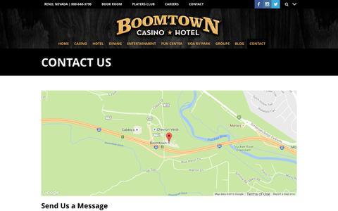 Screenshot of Contact Page boomtownreno.com - CONTACT US - captured Nov. 23, 2016