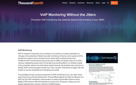 VoIP Performance Monitoring | ThousandEyes