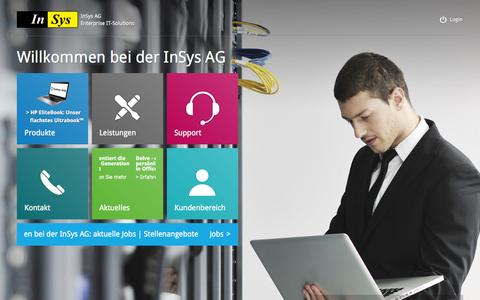 Screenshot of Home Page insys.de - InSys AG | IT-Solutions - captured Oct. 6, 2014
