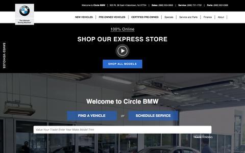 Screenshot of Home Page circlebmw.com - Circle BMW | BMW Dealer in Eatontown, NJ - captured July 18, 2018