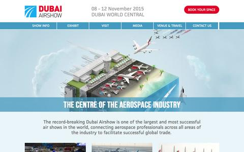 Screenshot of Home Page Site Map Page dubaiairshow.aero - The Centre of the Aerospace Industry - captured Sept. 30, 2014