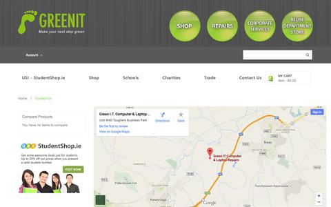 Screenshot of Support Page greenit.ie - GreenIT - captured Oct. 29, 2014