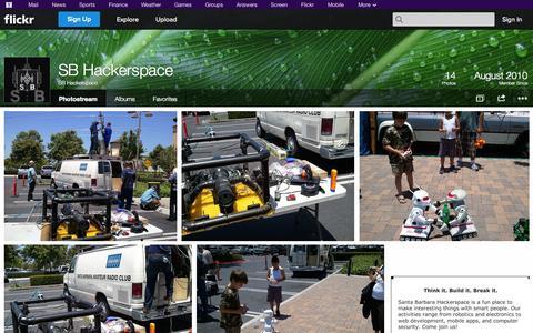 Screenshot of Flickr Page flickr.com - Flickr: SB Hackerspace's Photostream - captured Oct. 23, 2014