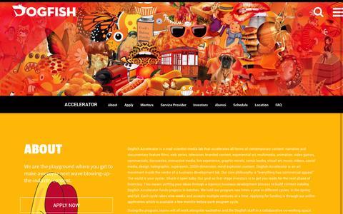 Screenshot of FAQ Page dogfish.ventures - dogfish | ACCELERATOR - dogfish - captured Oct. 5, 2014