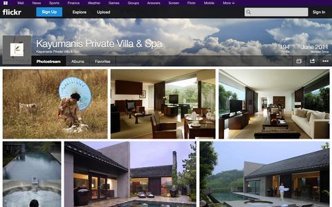 Screenshot of Flickr Page flickr.com - Flickr: Kayumanis Private Villa & Spa's Photostream - captured Oct. 23, 2014