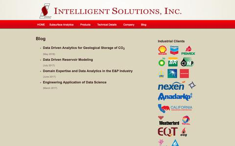 Screenshot of Blog intelligentsolutionsinc.com - Blog | ISI - captured Nov. 14, 2018