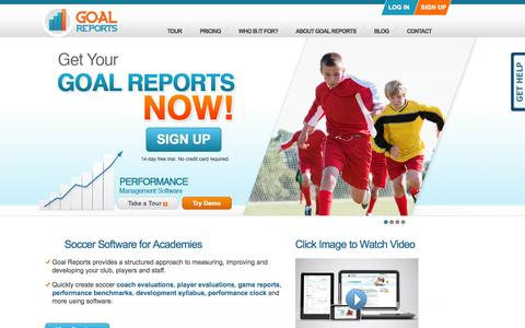 Soccer Software for Academies   Goal Reports