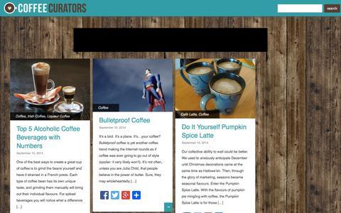 Screenshot of Home Page coffee-curators.com - Coffee Curators - captured Sept. 18, 2014